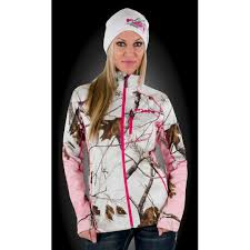 fxr elevation pile womens zip up realtree aphd snow ap pink camo