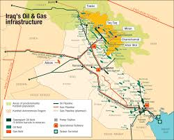 map of irak map iraq s gas infrastructure the barrel