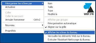 afficher les icones du bureau où sont passées mes icônes sur le bureau windowsfacile fr