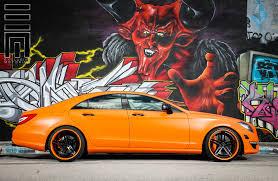 orange mercedes burning orange mercedes cls amg by exclusive motoring u2014 carid com