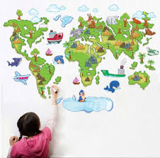 Online World Map by Compare Prices On Wall Stickers Colourful World Map Online