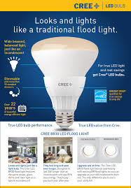Cree 100 Watt Led Light Bulb by 65w Equivalent Daylight Br30 Dimmable Led Floodlight Bbr30