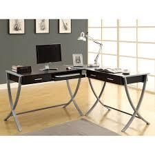 3 piece glass desk hollow core cappuccino 3 piece corner desk home office pinterest