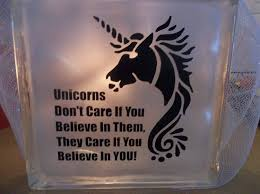 Unicorn Home Decor Glass Block Light Unicorn Quote Glass Night Light Unicorn
