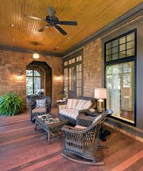 innovative wicker rocking chair in porch traditional with cedar