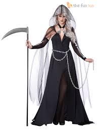 size 8 22 ladies grim reaper death costume womens halloween