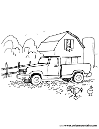 farm pickup truck coloring sheet create a printout or activity