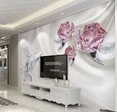 online get cheap vintage wall murals aliexpress com alibaba group custom 3d photo wallpaper fashion crystal rose 3d murals wallpaper living room 3d walls murals wallpaper