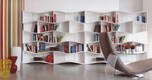 Bookcase Shelves Modular Bookcase With Waving Shelves Shape U2013 Onda Modular Bookcase