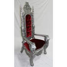 Throne Style Chair Silver Red Lion Throne Chair Lk 1 Sr