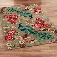 Peacock Area Rugs Peacock Flora Wool Area Rugs