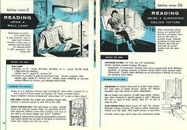 lighting recipes circa 1950s from