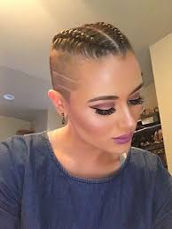 half shaved with braids braids braids braids my makeup pinterest shaved sides
