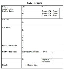 sales call report template sales call reporting template sales call report template sales