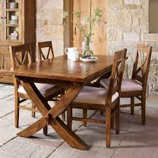 mango wood dining table new frontier mango wood x leg extending dining table and 4 chairs