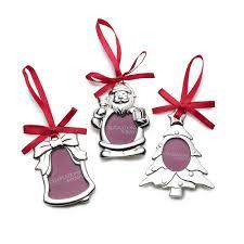 buy mikasa set of 3 silver plated frame christmas ornaments