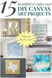 Bathroom Art Ideas For Walls by 15 Beautiful U0026 Super Easy Diy Canvas Art Projects For The Non Artist