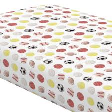 sports wrapping paper watercolor sports crib sheet carousel designs