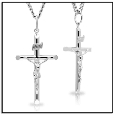 crucifix jewelry men s sterling silver crucifix pendant necklace with
