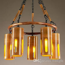 Bamboo Ceiling Light Pendant Light Creative Bamboo Chandelier Personalized Retro