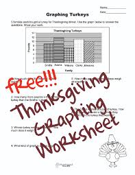 free thanksgiving graphing worksheet squarehead teachers