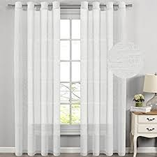 108 Inch Black And White Curtains Amazon Com Hlcme White 2 Pack 108 Inch By 108 Inch Window Curtain