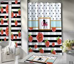 Navy And Red Shower Curtain Beautiful Horse Shower Curtain For Girls Of All Ages Black And