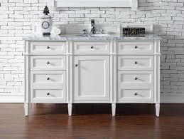 60 inch single bathroom vanity white finish no top