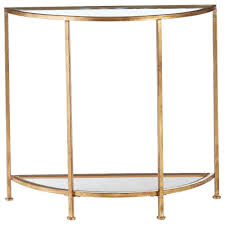 Glass Console Table Home Decorators Collection Aged Gold Demilune Glass Console