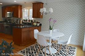painted kitchen backsplash benjamin starts a trend with stenciled kitchen backsplashes