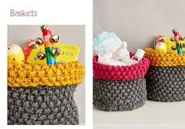 nursery baskets kit in deramores studio chunky