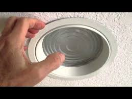 how to change shower light changing shower light bulb in recessed fixture with lens youtube