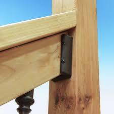 angled u0026 level deck railing connectors u0026 brackets decksdirect