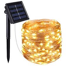 indoor solar lights amazon amir solar powered string lights 100 led copper wire lights starry