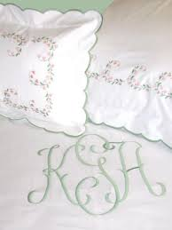 Monogrammed Coverlet Haley Couture Monogram On Lillibelle Embroidered Bed Linens