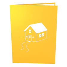 housewarming yellow pop up housewarming card lovepop