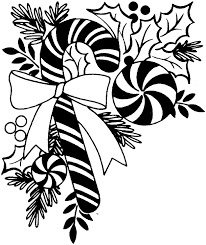 christmas black and white images clipart