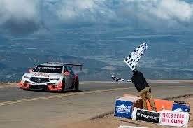 lexus sedan bekas acura tlx gt race car finishes second overall at pikes peak