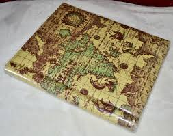 old world map w loch ness monster large photo album w bonus 3