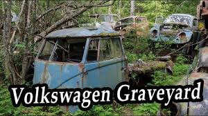 Abandoned Old Rusty Cars Volkswagen Graveyard Abandoned Vehicles In