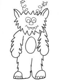 monster colouring 4 monsters kiddies parties
