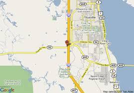 map of hton inn titusville i 95 kennedy space center fl