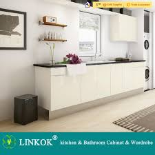 linkok furniture acrylic mdf kitchen cabinet with accessories in