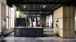 kitchen style loft vintage concrete flooring winsome kitchen