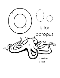 preschool alphabet coloring pages octopus alphabet coloring