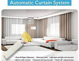 Ceiling Mounted Curtain Track System Amazon Com Electric Remote Controlled Drapery System W 8 U0027 Track