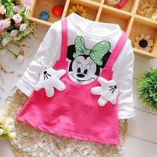 pattern dress baby girl minnie mouse long sleeve baby girl dress kidstown