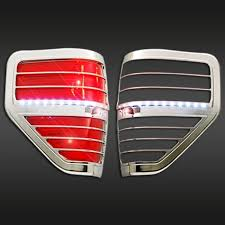 2013 f150 tail light bulb ford f150 2009 2013 chrome tail light bezel with led 2pc mtlb507