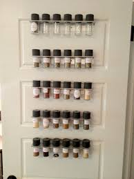Kitchen Cabinet Door Spice Rack Gray Metal Pantry Door Spice Rack Using Spesific Spice Bottle