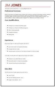 cv sample for high students myperfectcv